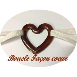 Boucle Ceinture En Forme De Coeur Jaspé Couleur Marron A Coudre.