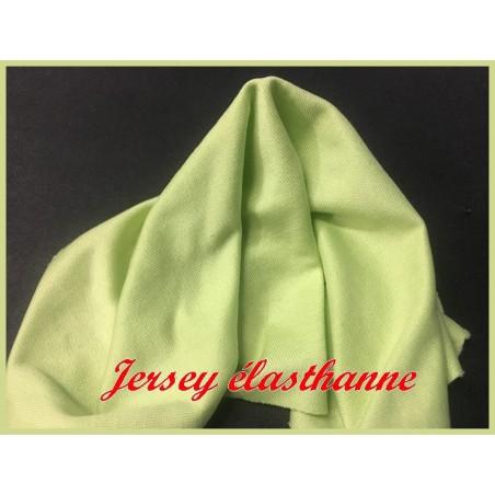 Tissu jersey Lycra  Viscose Couleur Vert  Anis A Coudre