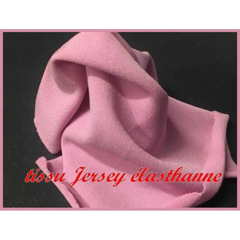 Tissu jersey Lycra Viscose Couleur Vieux Rose A Coudre