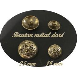 Bouton Doré Métal Pour Blazer En Taille 25 mm à Coudre Pour Customisationsde De Vetements et