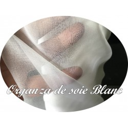 Tissu Organza De Soie Blanc Au Mètre Couture Pour Mariage Et Cérémonies