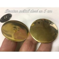 Bouton Doré Métal Vintage En Taille 5 Cm A Coudre Pour Customisations de De Vetements et Décorations.