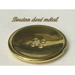 Bouton Doré Métal 4 Trous Pour Blazer En Taille 25 mm à Coudre Pour Customisationsde De Vetements et