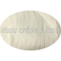 Tissu Plissé En crêpe Ecru Ivoire A Coudre, Pour Chemisers, Jupes, Et Customisations.