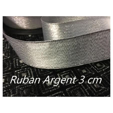 Ruban Lurex 3 Cm En Argent A Coudre Pour Décorations Et Loisirs Créatifs