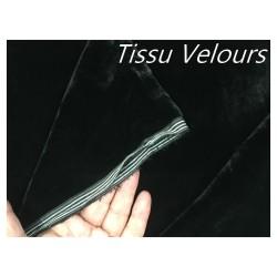 Tissu Velours Noir En Grande Largeur Pour Vetements Et Ameublement