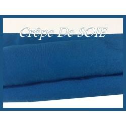 Crêpe De SOIE Turquoise Au mètre Couture.