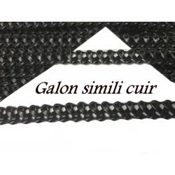 Galon Ruban Tressé En Simili Cuir Noir A Coudre Pour Loisirs Créatifs Et Décorations.