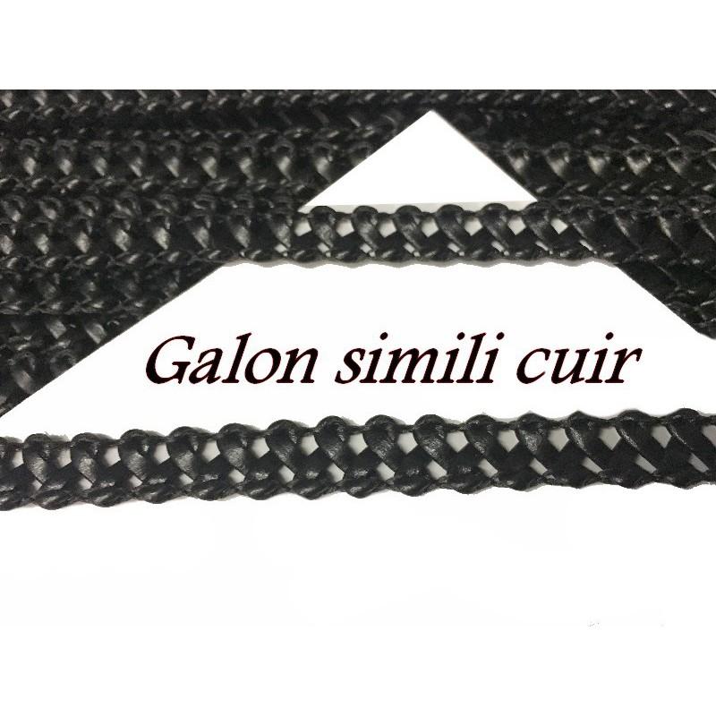 Galon Ruban Tressé En Simili Cuir A Coudre Pour Loisirs Créatifs Et Décorations.