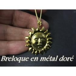 Breloque Pendentif En Métal doré En Forme De Soleil Pour La Customisation Collier, Loisirs Créatifs