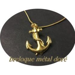 Breloque Pendentif En Métal doré En Forme D'Ancre Marine Pour La Customisation Collier, Loisirs Créatifs