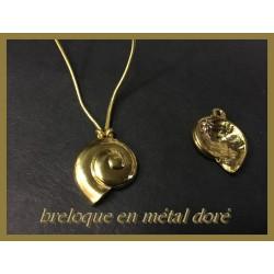 Breloque Pendentif En Métal doré En Forme D'Escargot Pour La Customisation Collier, Loisirs Créatifs