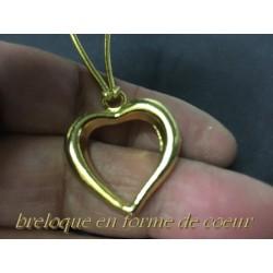 Breloque Pendentif En Métal doré En Forme De Coeur Pour La Customisation Collier, Loisirs Créatifs