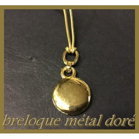Breloque Pendentif En Métal doré En forme De Rondelle Pour La Customisation Collier, Loisirs Créatifs
