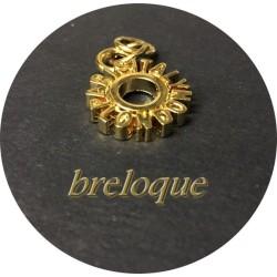 """Breloque Pendentif En Métal doré En forme De Rondelle """" Paris Italy London """" Pour La Customisation Collier, Loisirs Créatifs"""