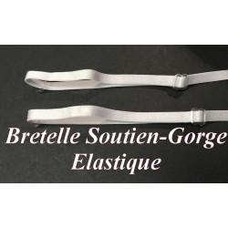 Bretelle Elastique Soutien Gorge en 7 mm Noir ou Blanc.
