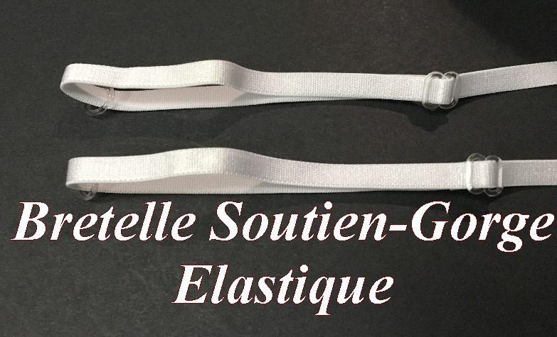 dernière vente qualité fiable grande vente Bretelle Elastique Soutien Gorge en 7 mm Noir, pour lingerie ...