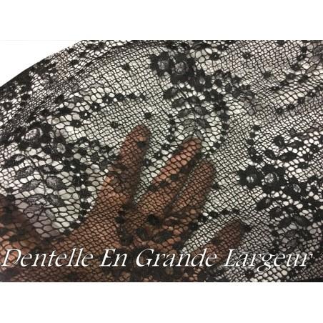 Tissu Dentelle lycra Brodé Grande Largeur Pour Lingerie, décorations, Et Customisations.