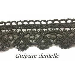 Guipure Au Mètre Grise En 3,5 cm Couture..