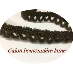 Galon Boutonnière En Laine Marron, Galon De Bride Noir A Coudre.