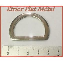 Etrier Boucle Métal Plate Argent Demi Rond En 43 mm Pour Sangle, Maroquinerie Et Vetements