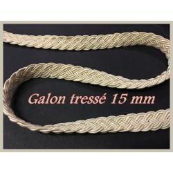 Galon Ruban Tressé en 15 mm Au Mètre Ecru couture.