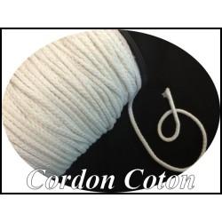 Cordon Fil Lacet au Mètre Coton en 3 mm en Couleurs