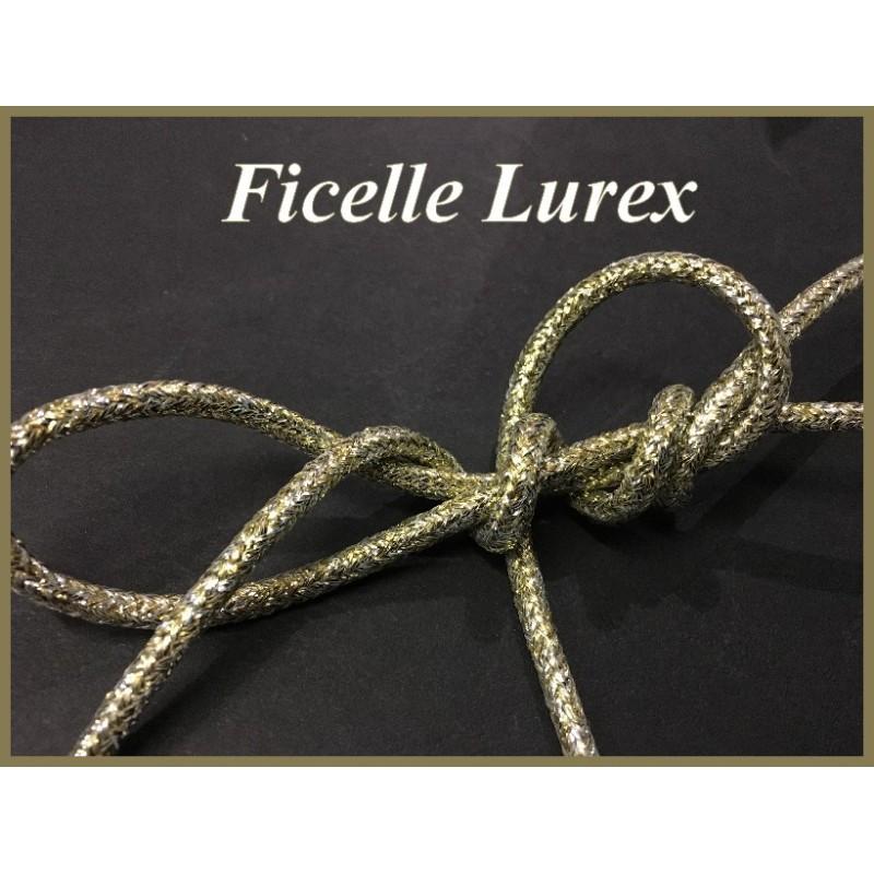 Cordon Lurex doré Et Argent, Ficelle lurex au Mètre En 5 mm.