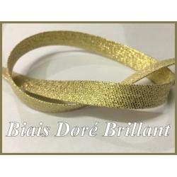 Biais Tissu Doré Brillant Lurex , Au Mètre A Coudre, Pour Loisirs Créatifs Et Décorations.